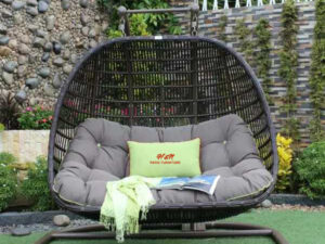 H&N Outdoor Patio Furniture Hanging Chair With Stand SW2